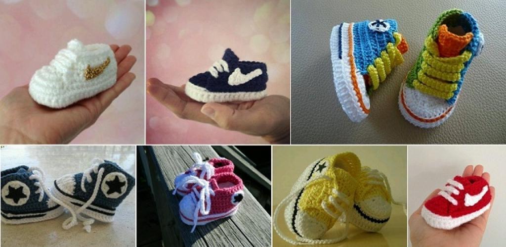 9156d9584b425 bébé crochet pattern chaussures converse - Akileos