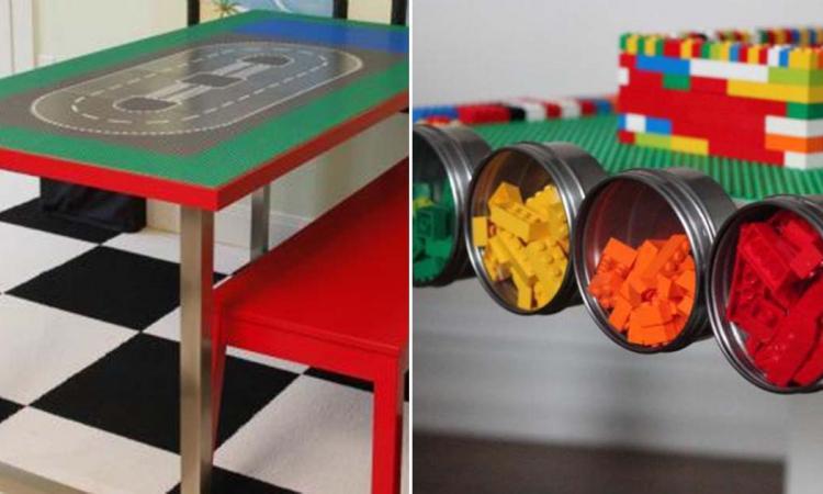 12 tables avec rangement pour les VRAIS FANS de blocs Lego! Et vous avez probablement TOUT ce qu'il faut à la maison!!