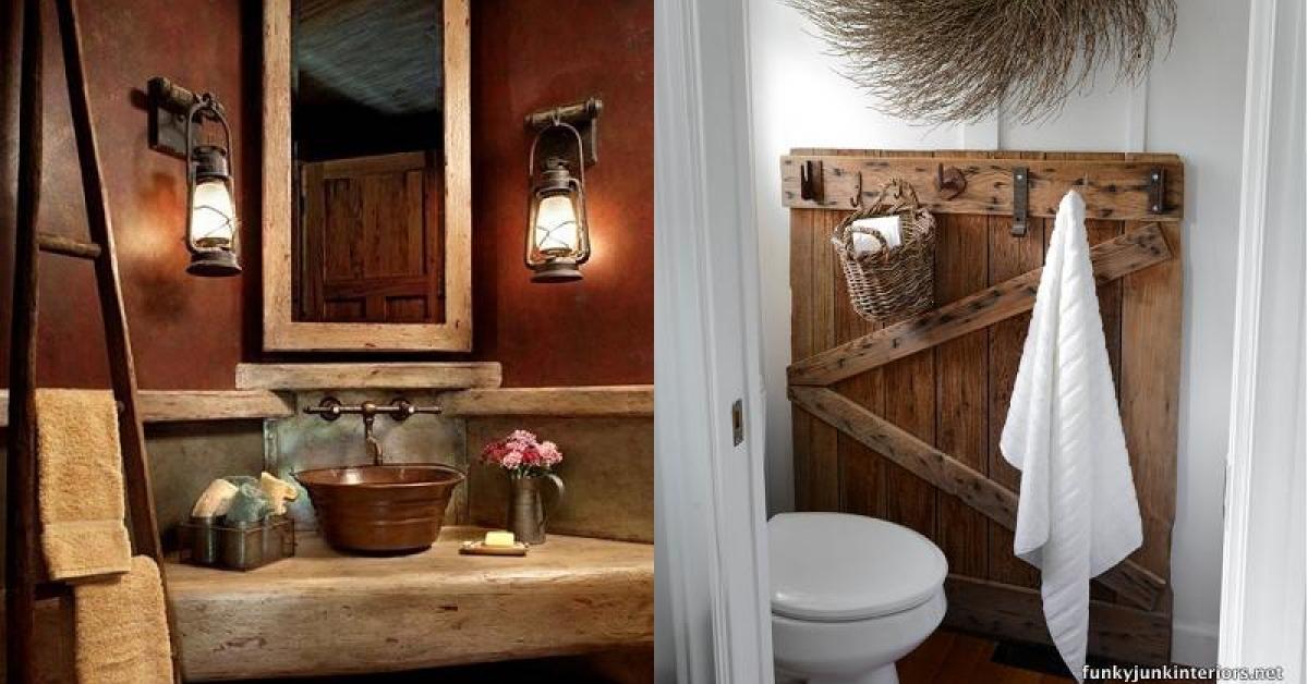 déco salle de bain rustique