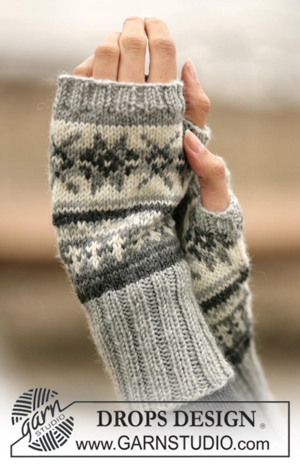 patron tricot mitaines sans doigts