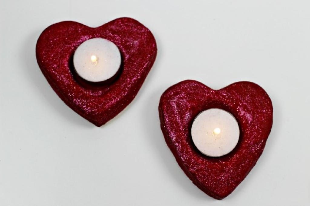 Favori Des bougies en coeur faciles à fabriquer pour la St-Valentin  XE73