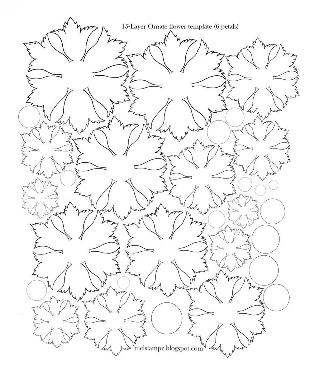 modele scrapbooking fleur