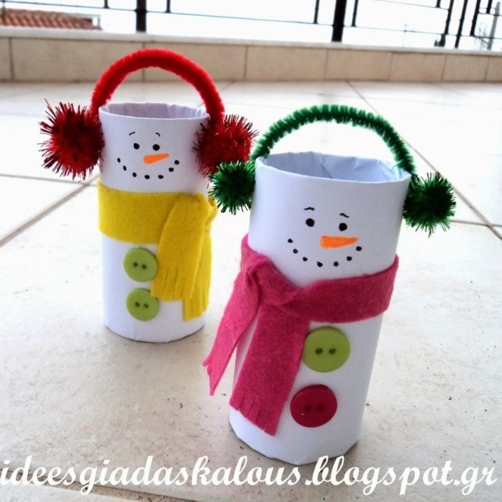 Relativ 12 modèles de bricolages d'hiver à faire avec rouleaux de papier  YU68