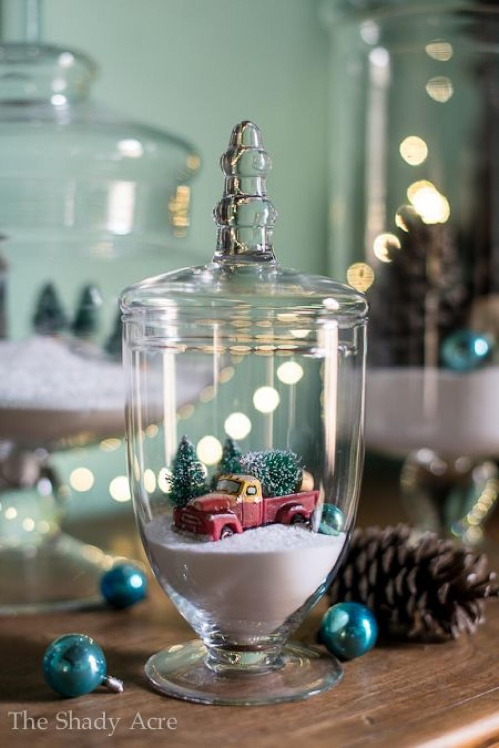 Bien connu 20 décorations de Noël à faire avec des accessoires de verre! C  KR46