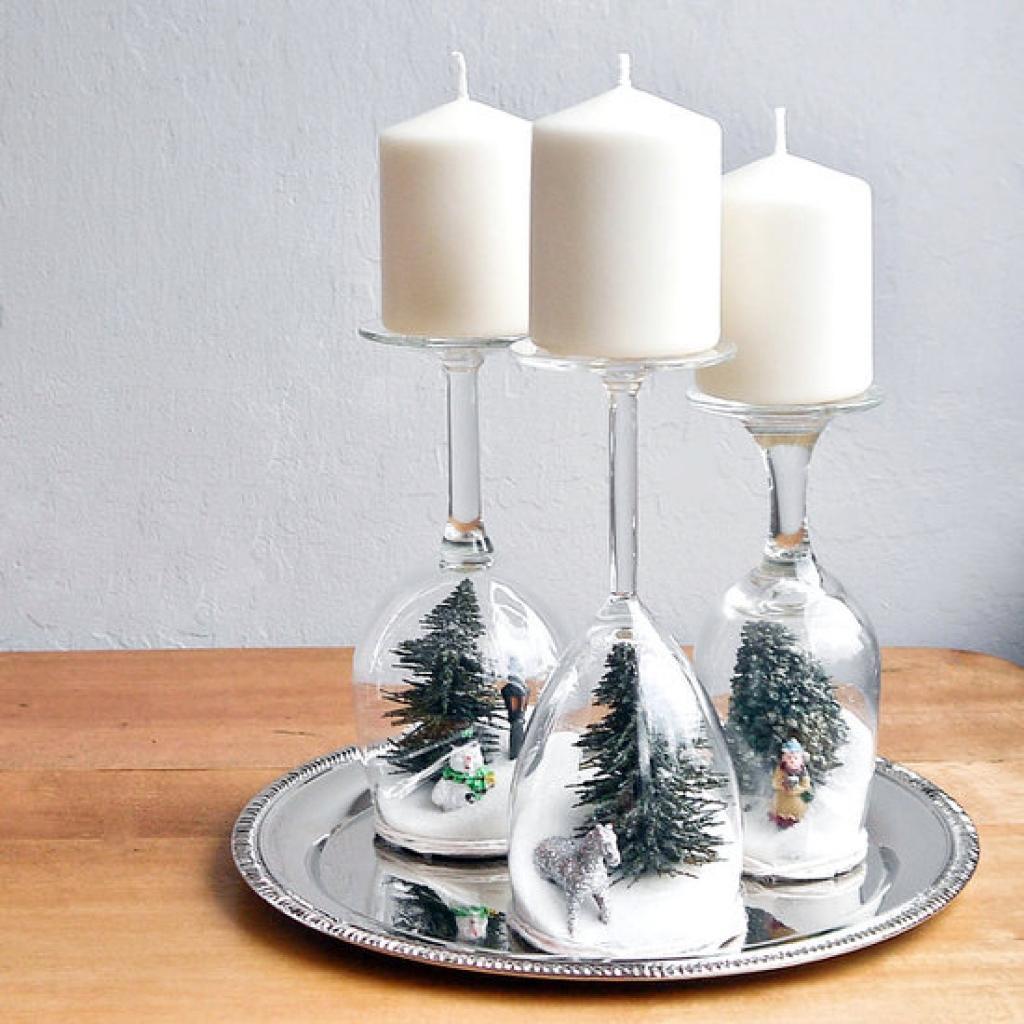 20 décorations de Noël à faire avec des accessoires de verre! C\u0027est CHIC!  Et pas cher!