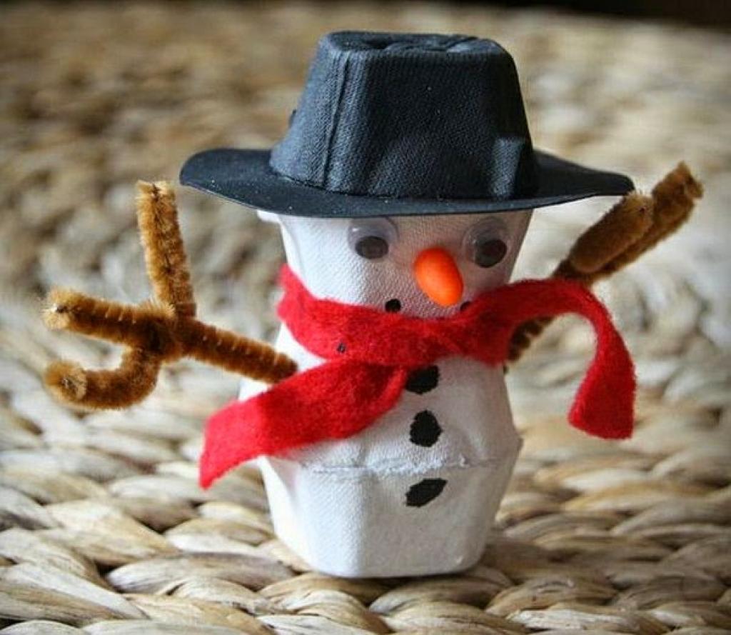 Fabulous De bonhommes de neige en carton d'œuf! Tutoriel vidéo  JK16