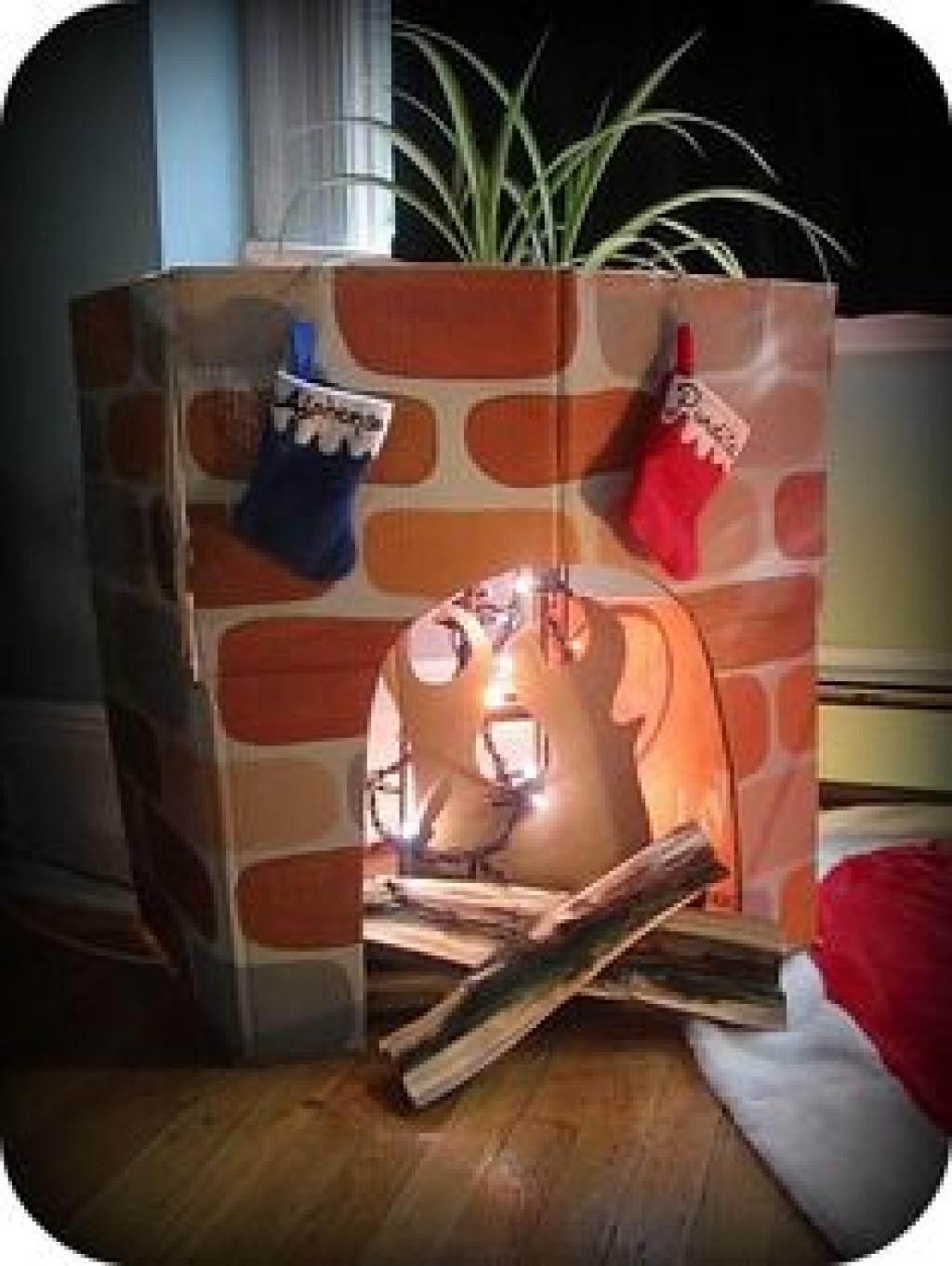 Une foyer magique pour le Père Noël! Et une astuce pour le rendre ...