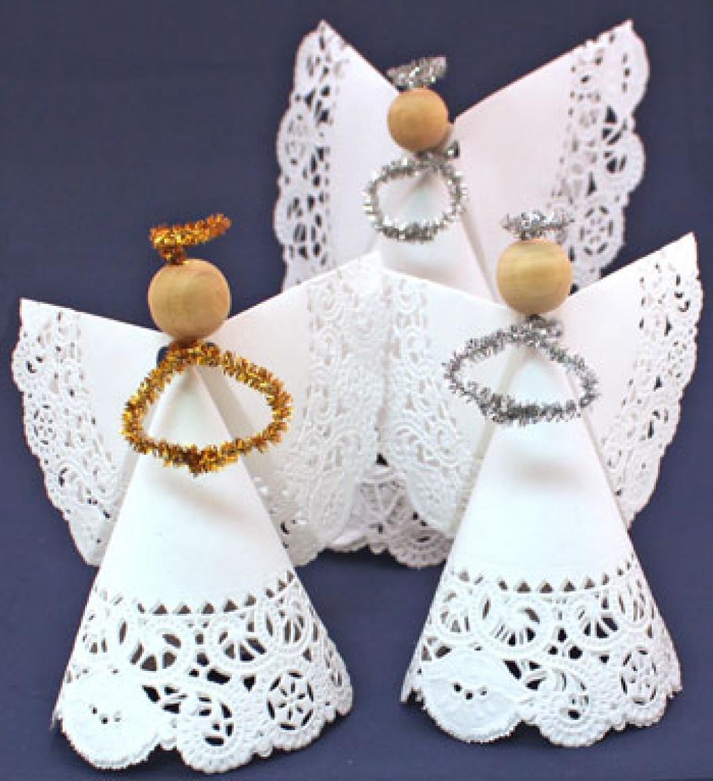 Super Des anges de papier! Ange de dentelle et Ange à plumes! 2  HM68