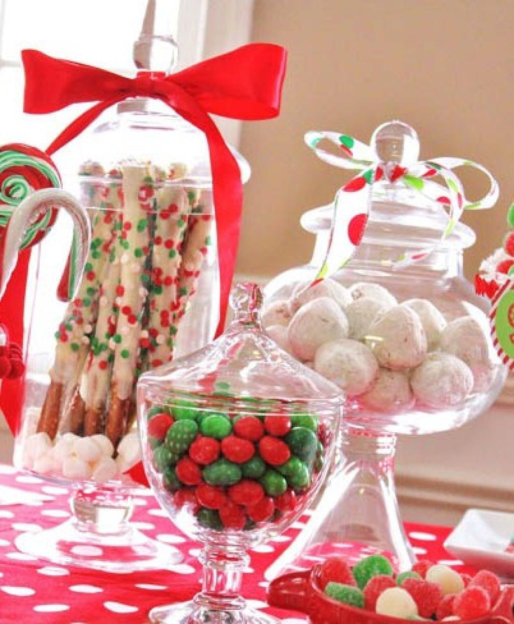 14 Idées Faciles Pour Décorer Votre Table De Noël Avec Des Bonbons!   Trucs  Et Bricolages