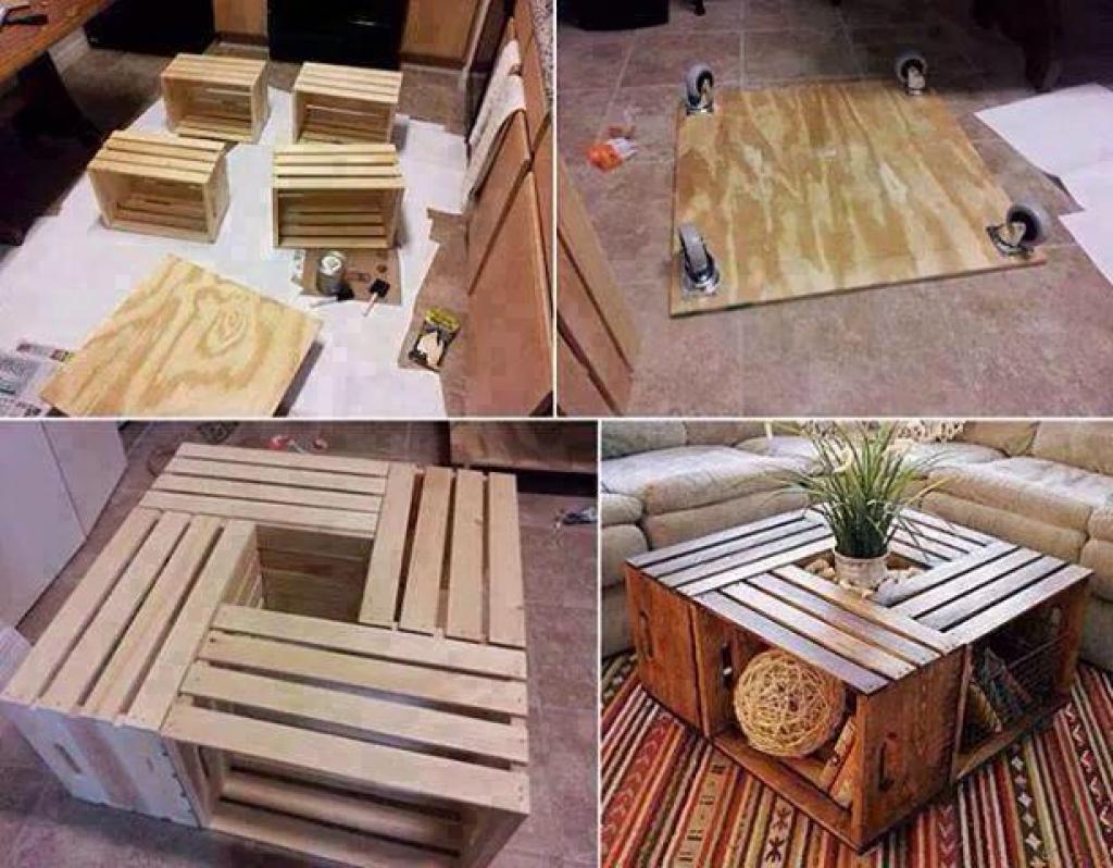 Favori Faire une table basse avec des caisses de bois! - Trucs et Astuces  KB11