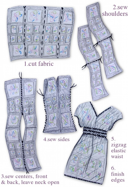 Robe longue 4 rectangles