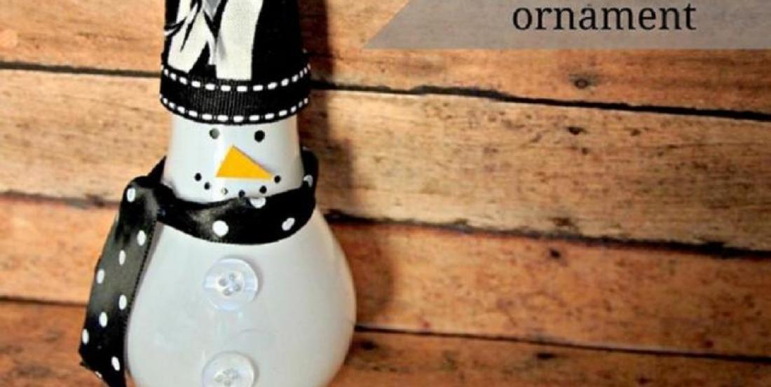 Recyclez vos ampoules pour des bricolages de Noël! 20 MODÈLES!