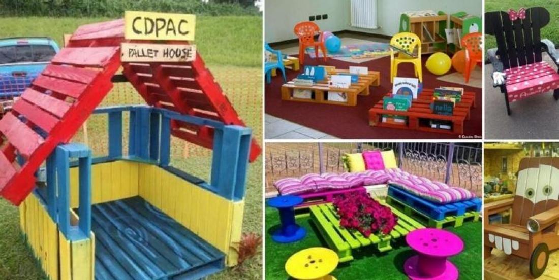 Voici 20 merveilleuses idées de meubles pour enfants à bricoler avec des palettes de bois!