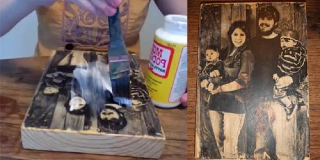 Comment transférer une photo sur un bloc de bois! C'EST MAGIQUE!