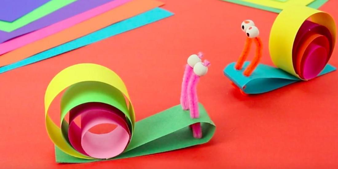 Bricolage printanier: de charmants escargots colorés!