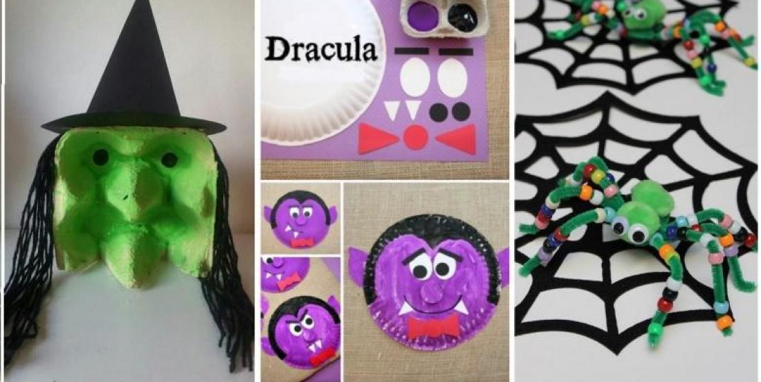 Voici 8 magnifiques bricolages à réaliser avec les enfants pour célébrer l'Halloween!!!