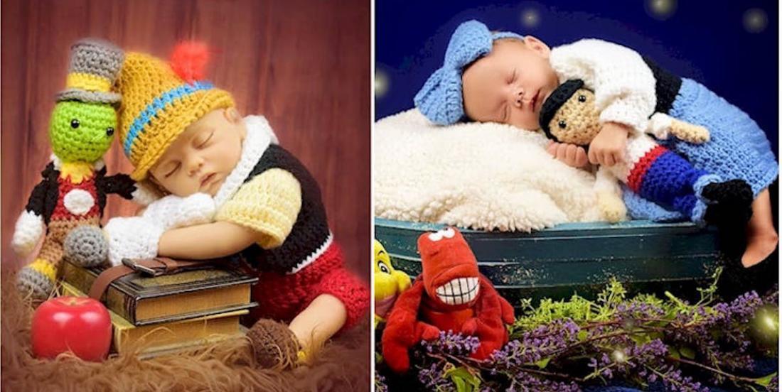 Cette artiste crée des vêtements crochetés pour bébé inspirés de l'univers de Disney