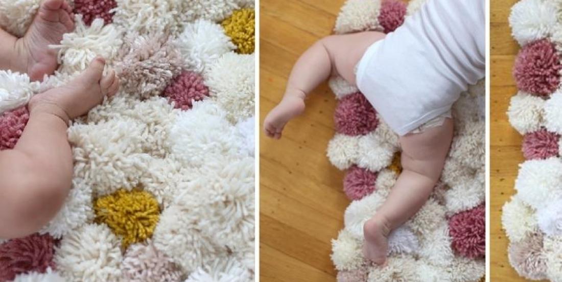 Comment fabriquer une jolie carpette! Et une façon différente de faire des pompons!
