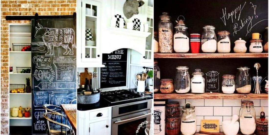 21 façons tout simplement magnifiques, d'utiliser la peinture à ardoise dans une cuisine!