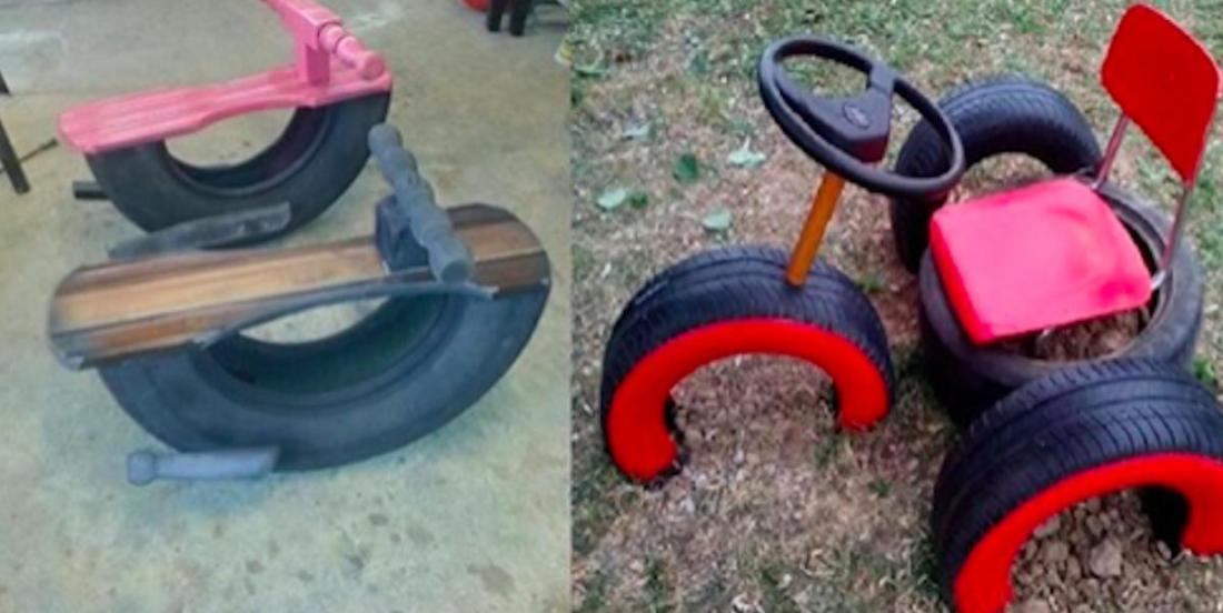 9 idées pour créer des jeux pour enfants à partir de pneus usagés