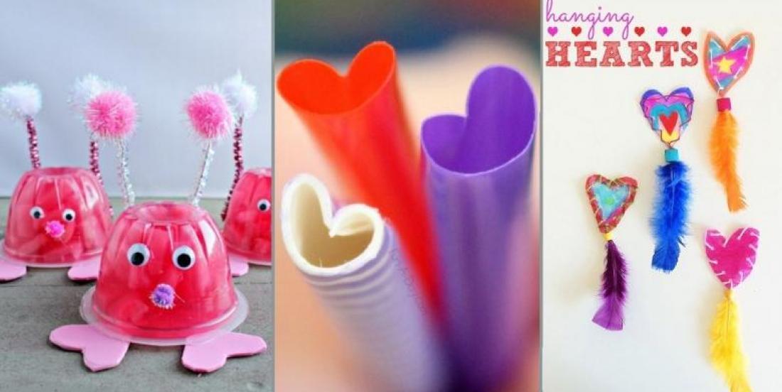 12 Bricolages pour la Saint-Valentin à faire avec les enfants!