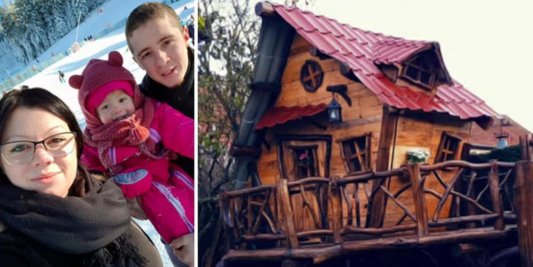 Un couple fait fureur sur Facebook après avoir construit une maison de rêve pour leur fillette