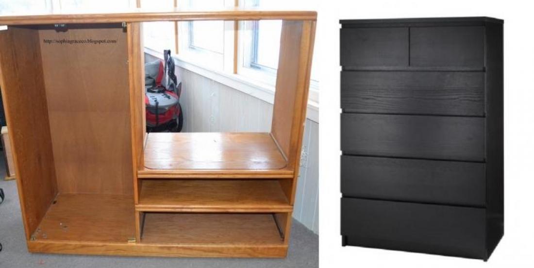 Transformer une vielle commode ou un meuble télé, en une loge parfaite!