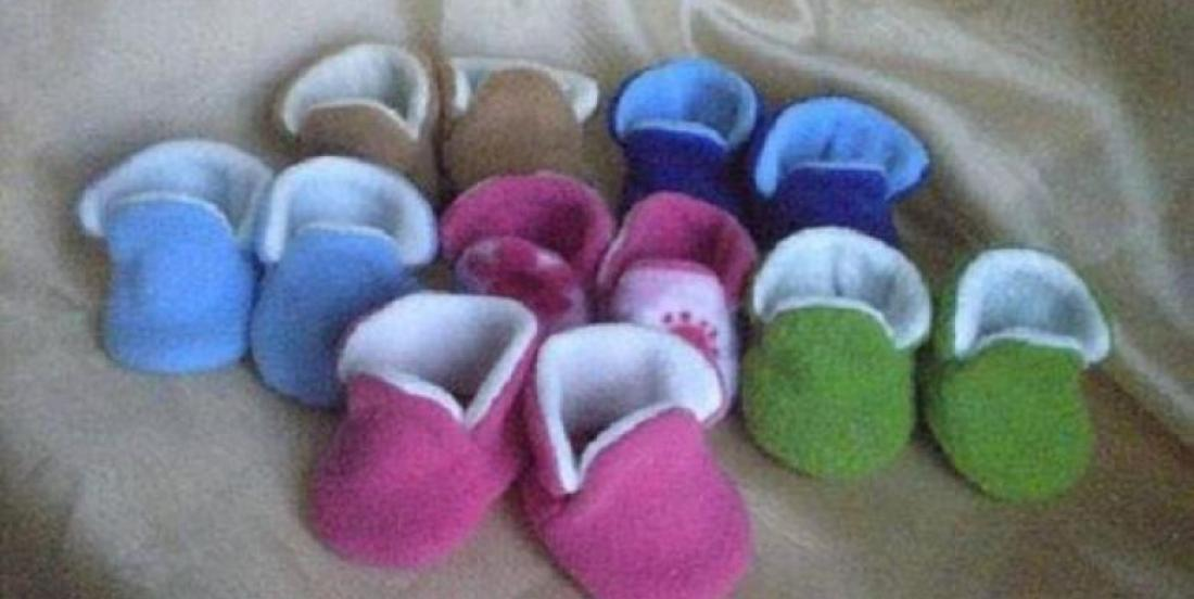 Un patron gratuit pour fabriquer de belles petites pantoufles de bébé!