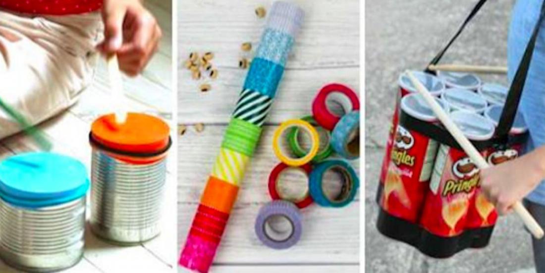 Bricolages faciles: 12 instruments de musique à créer avec les enfants