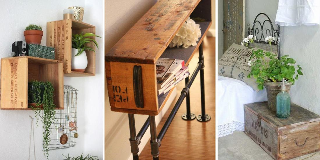 20 façons créatives de décorer votre maison avec des caisses à vin