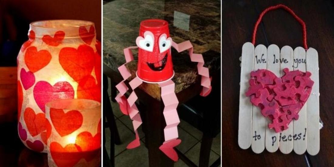 10 bricolages faciles à faire pour la Saint-Valentin avec les enfants!