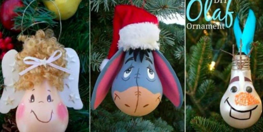 Récupérer les ampoules brûlées pour décorer le sapin de Noël! 33 Modèles à voir!