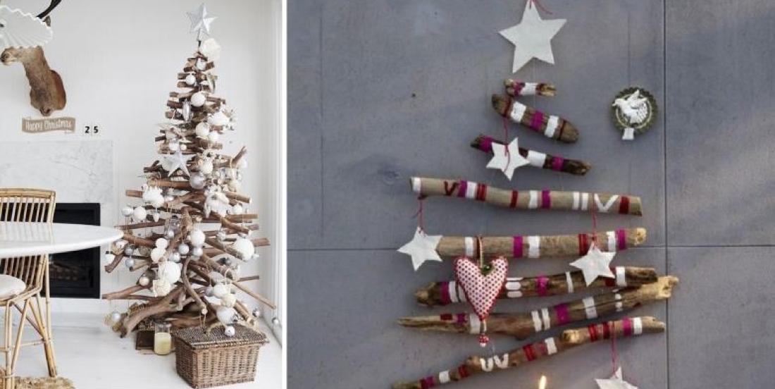 25 inspirations pour fabriquer soi-même un sapin de Noël, avec des branches!