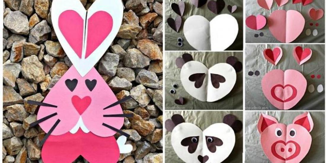 24 modèles à bricoler avec des cœurs pour la Saint-Valentin!
