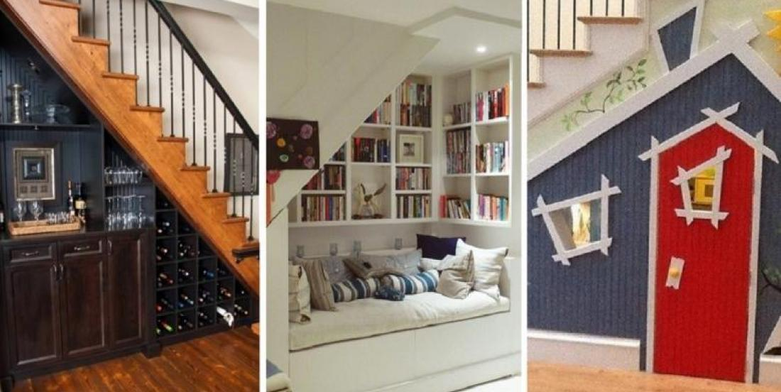 10 Magnifiques idées pour récupérer l'espace perdu, sous un escalier!