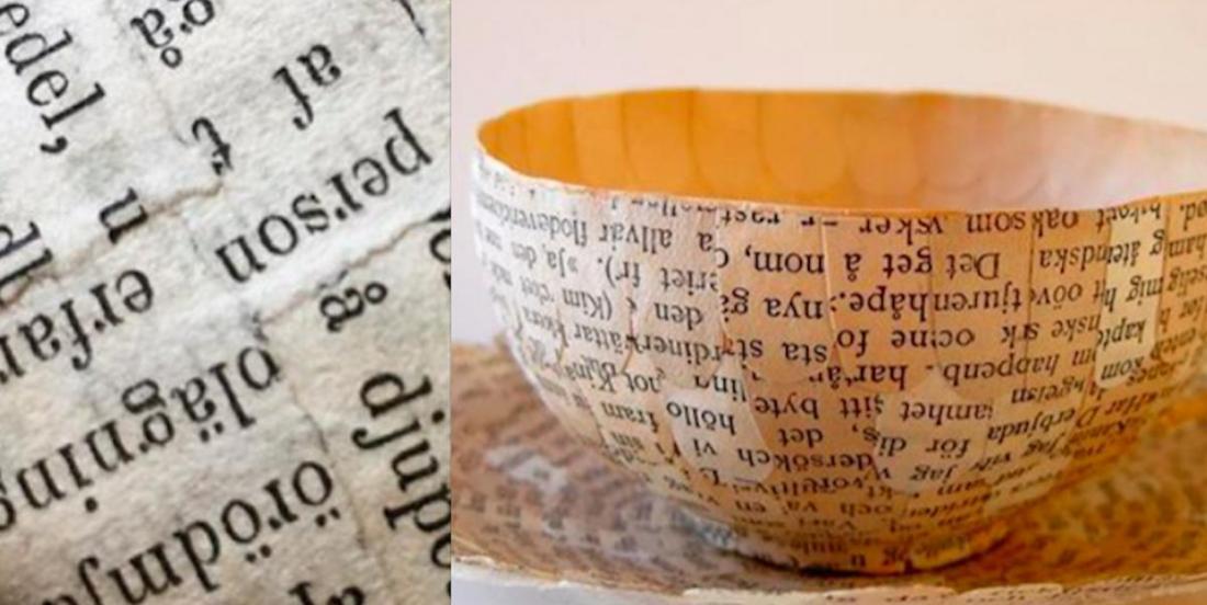 Cette artiste récupère les pages de vieux livres pour créer des objets uniques!