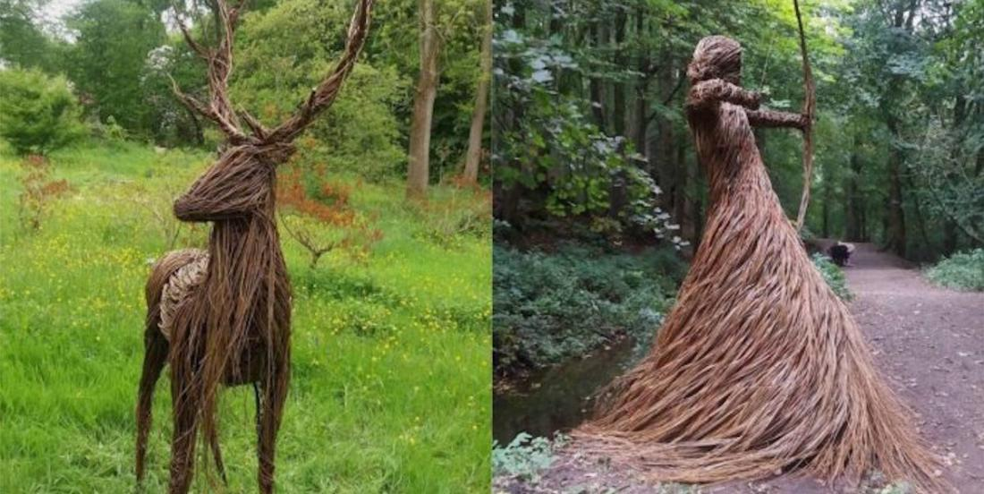 Cette artiste réalise des oeuvres en tressant des branches de saule