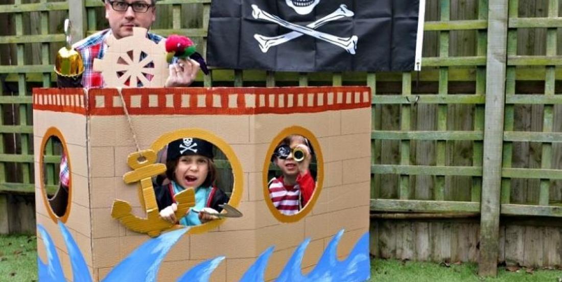 Fabriquez votre propre bateau pirate! Photo booth - photomaton en prime!
