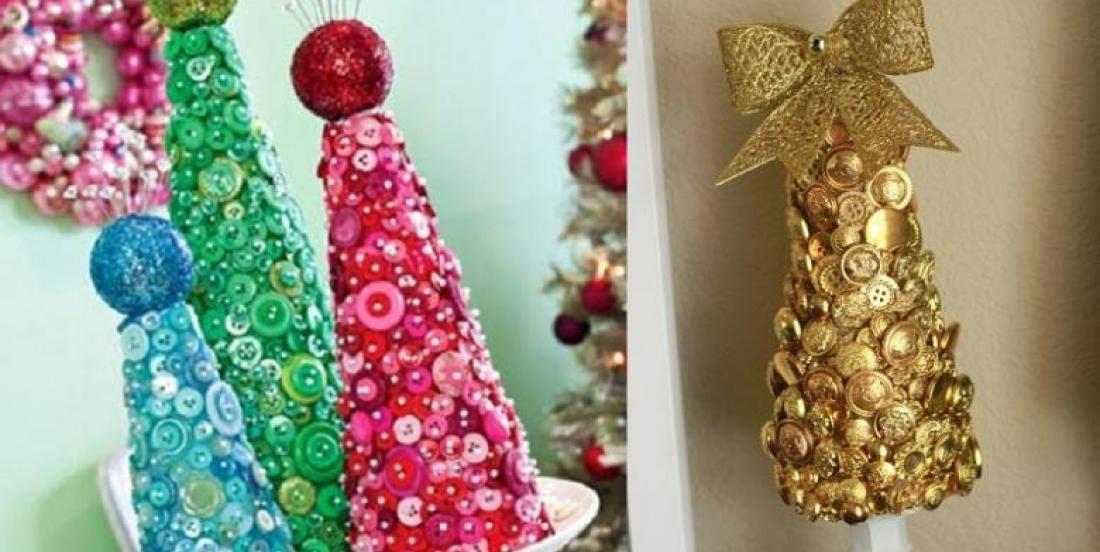 Un bricolage de boutons pour Noël! 10 MODÈLES À VOIR!