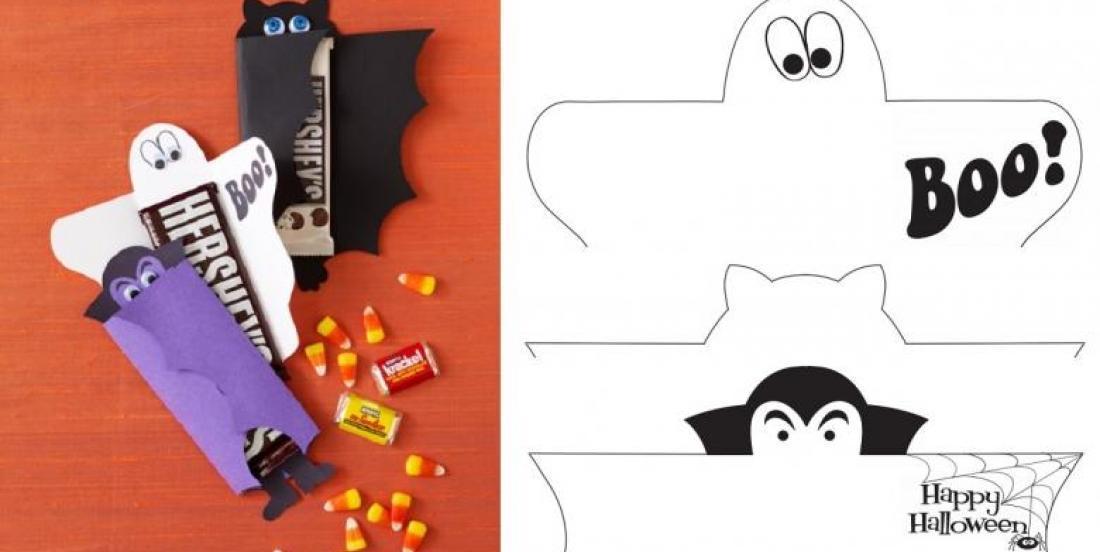 3 patrons gratuits! Offrez des chocolats aux enfants qui viendront à votre fête d'Halloween!
