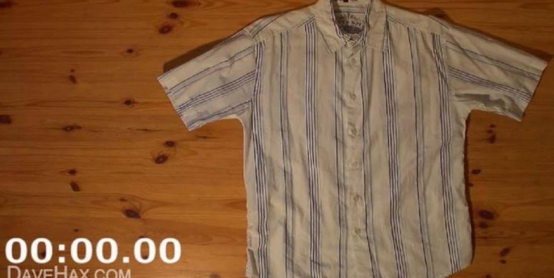 Comment plier une chemise en moins de 2 secondes!!!