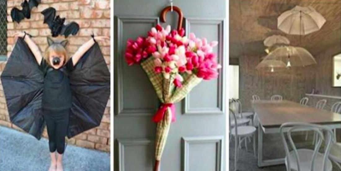 14 superbes idées pour récupérer de vieux parapluies