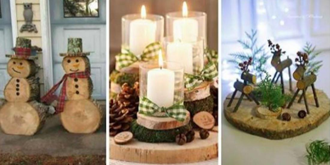 17 décorations de Noël que vous pouvez réaliser avec des rondins de bois