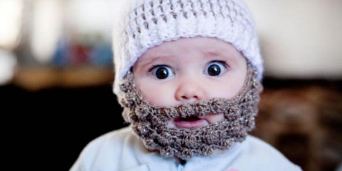 Projet au crochet: un bonnet-barbe pour bébé!