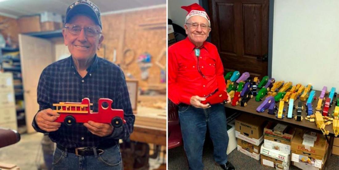 On a trouvé un véritable Père Noël, qui fabrique des jouets depuis 50 ans
