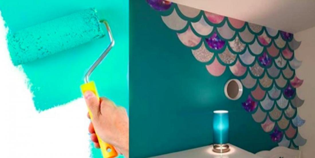 Elle crée un mur «sirène» pour moins de 35$