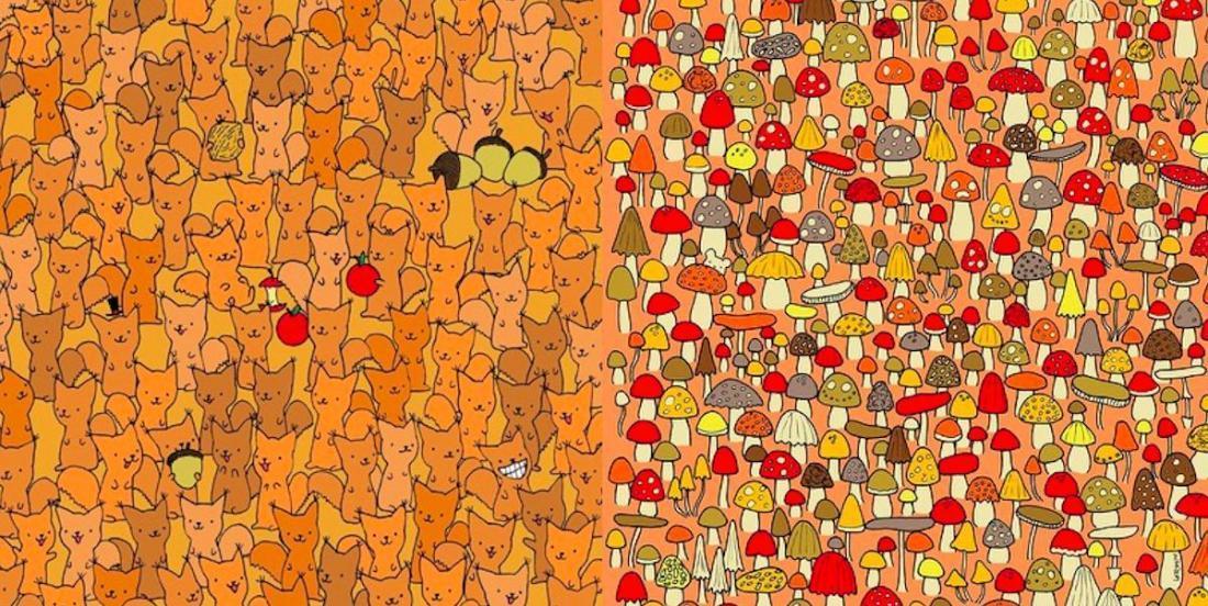 12 défis illustrés: trouvez les personnages cachés dans les dessins suivants!