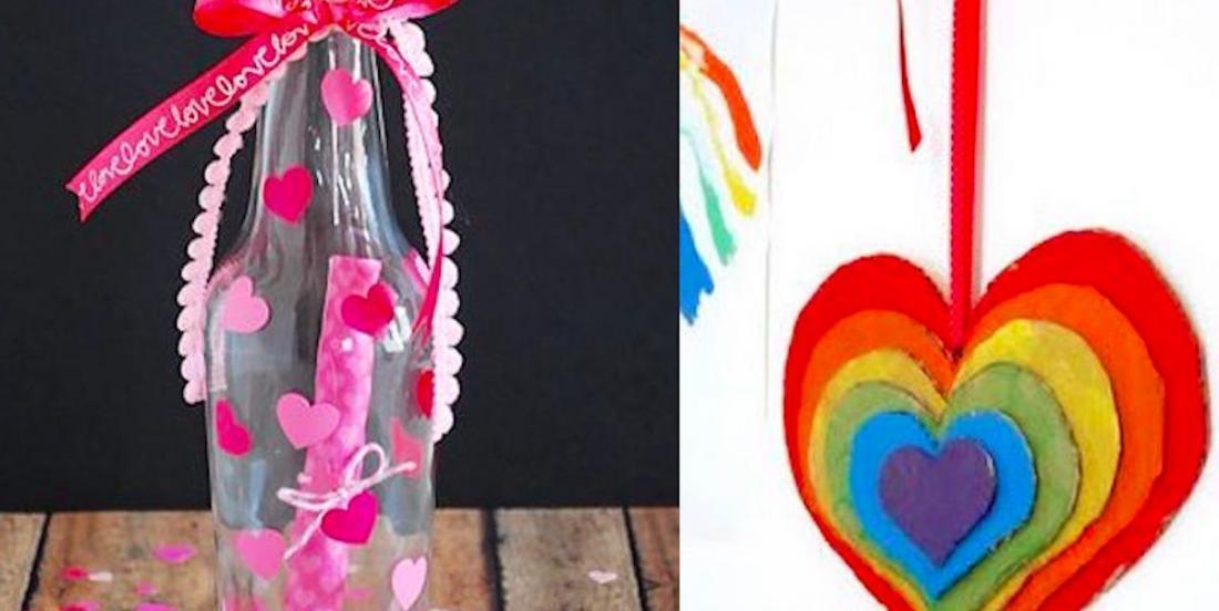 12 idées de bricolages pour la Sant-Valentin à faire avec les enfants