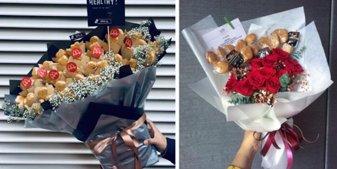 Nouvelle tendance pour la Saint-Valentin: les bouquets de pépites de poulet!