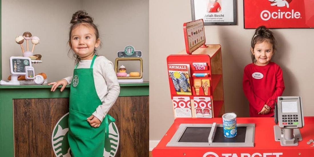 Une mère a fabriqué un mini Starbucks et un mini Target pour sa fille